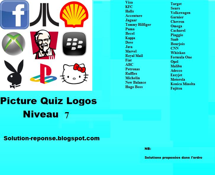 Picture Quiz logos solution niveau 7