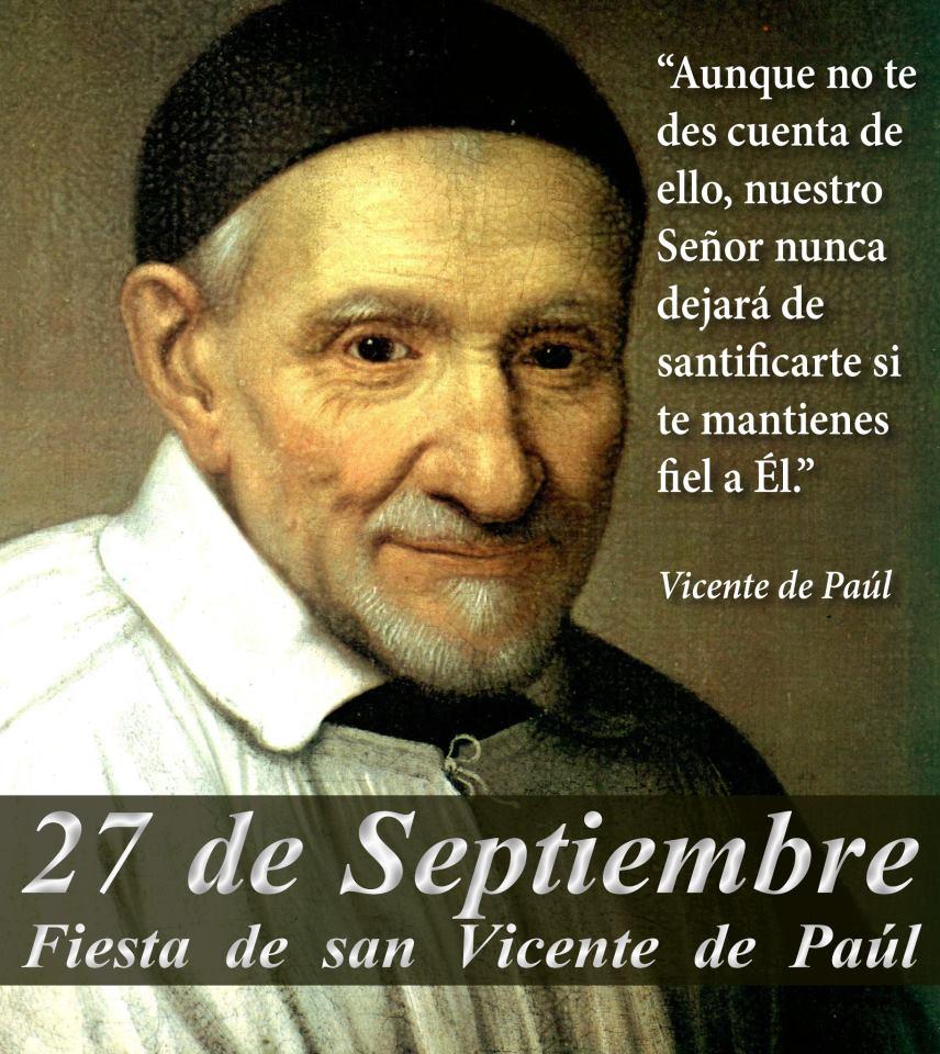 La Pizarra de Clase: ¡ Feliz día de San Vicente de Paúl!