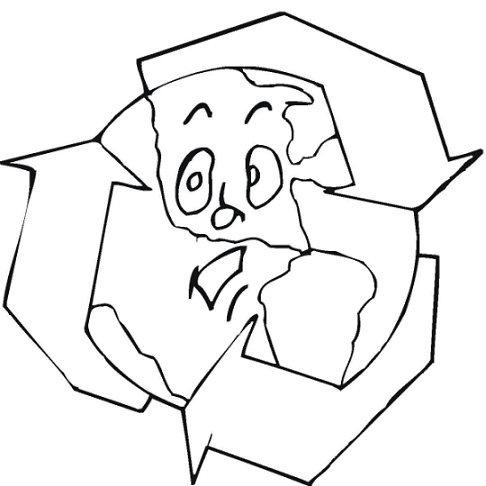 COLOREA TUS DIBUJOS: Logo de reciclaje con planeta tierra para ...