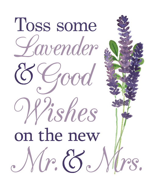 Lavender Wedding Toss: Weddings By Susan: Free Lavender Toss Printable Wedding Sign