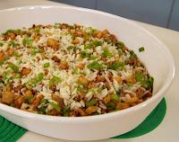 Arroz Casadinho com Cebolas Empanadas (vegana)