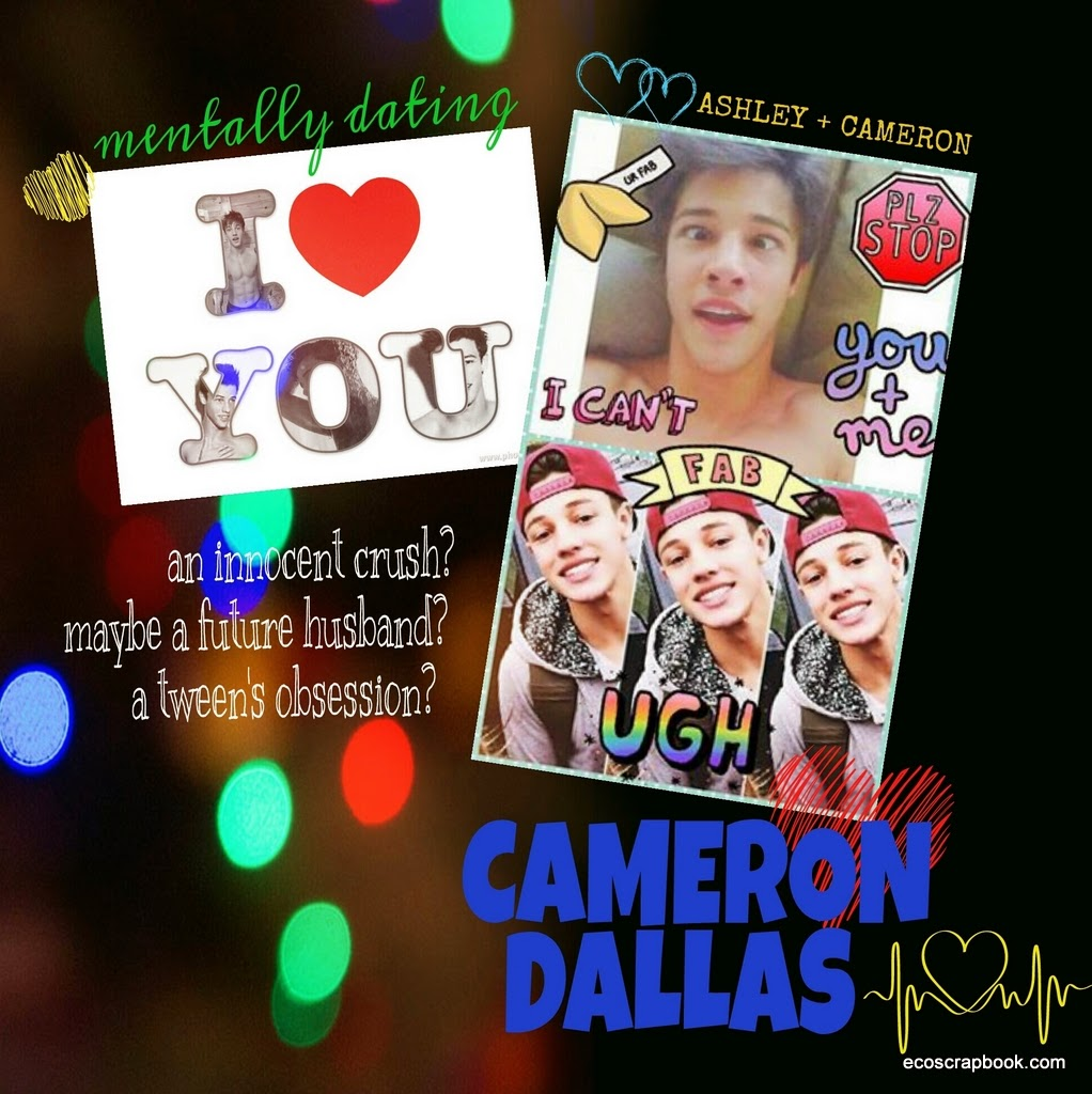 Scrapbook ideas with no photos -  Cameron Dallas Digital Scrapbook Layout No I M Not Obsessed With A Teenager But I Did Make This Page For My Oldest Daughter She Supplied The Collages