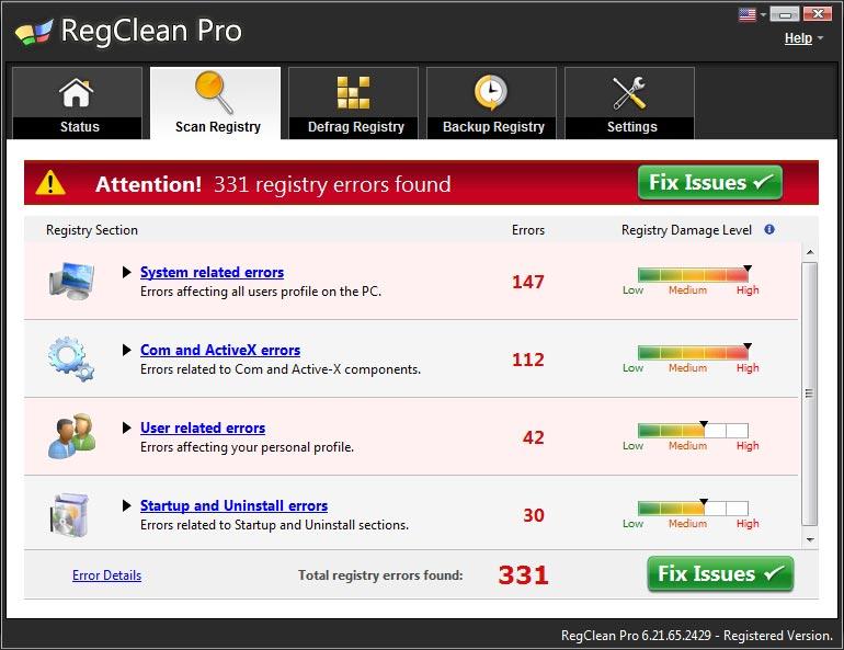 برنامج لاصلاح أخطاء الريجيستري تسريع الحاسوب Regclean 6.21,بوابة 2013 3.jpg