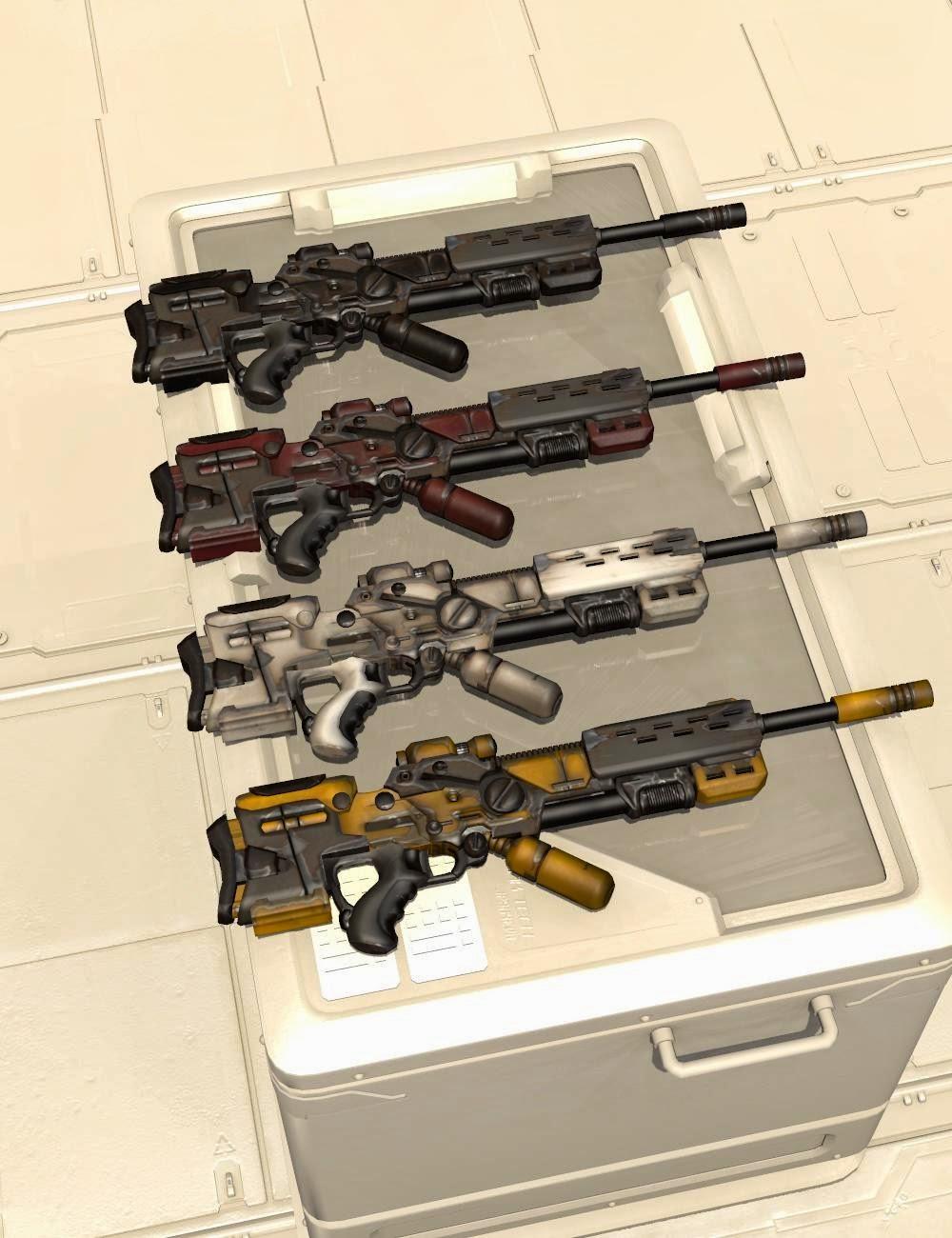 Mestophales Sci Fi armes