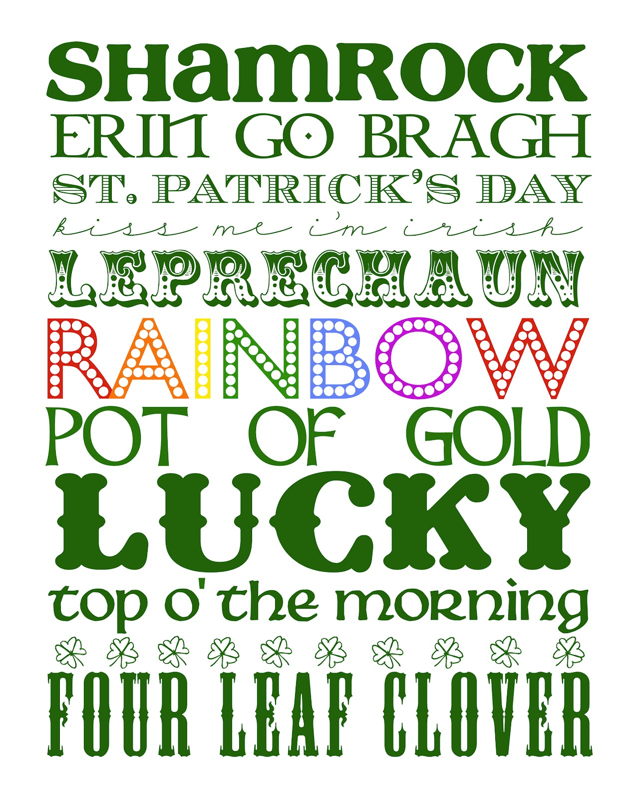st patrick u0027s day subway art printables spilled glitter