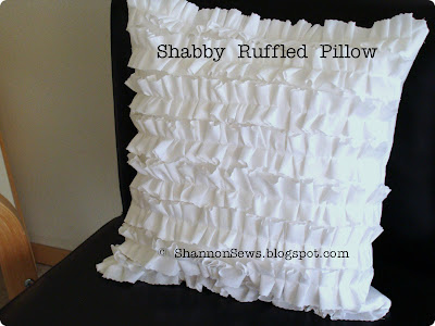shabby chic ruffled pillow handmade design