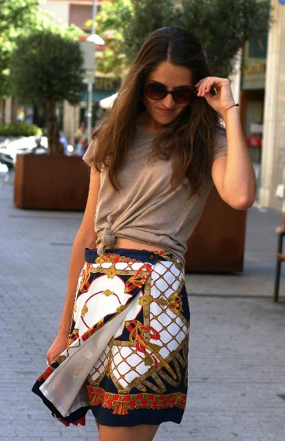 falda pañuelo