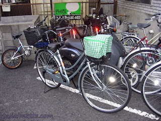 Japanese bicycles. Mama-chari bikes are everywhere!