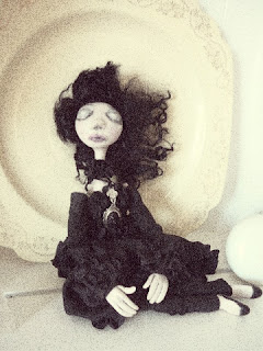 goth victorian memento mori death art doll post mortem