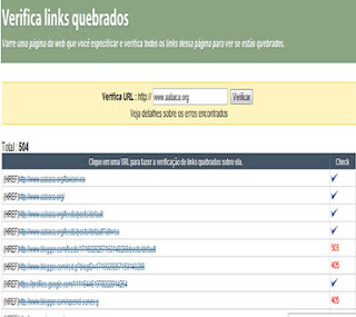 verificar links quebrados