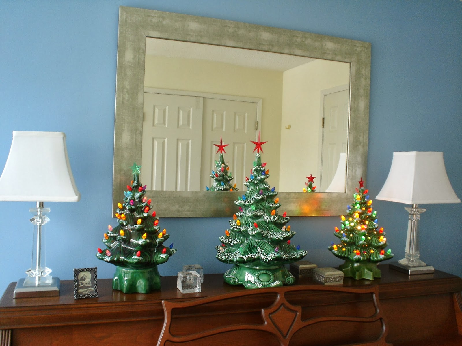 L Heure Bleue At Home Vintage Christmas Trees