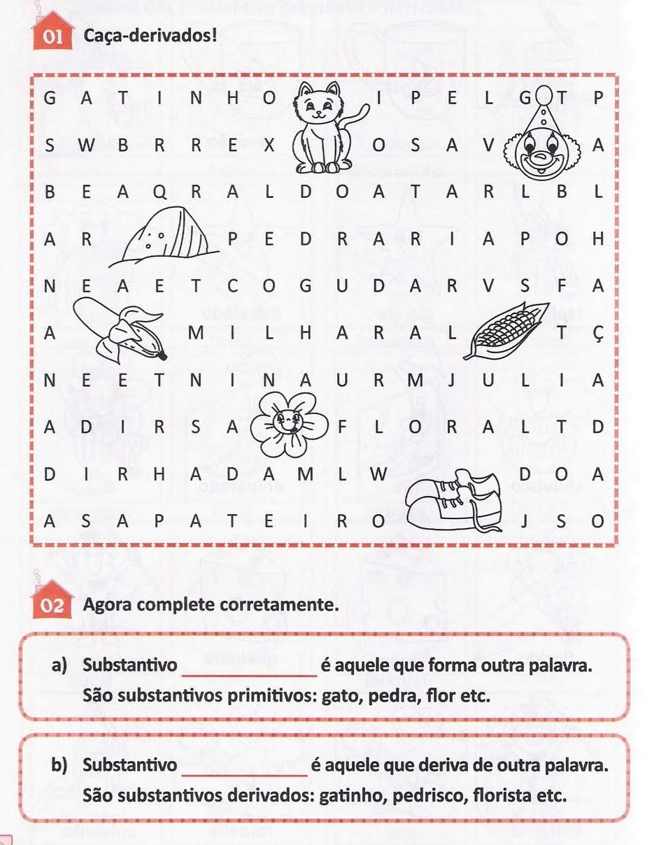 ESCOLA DUNAS: Exercícios sobre substantivos com as respostas