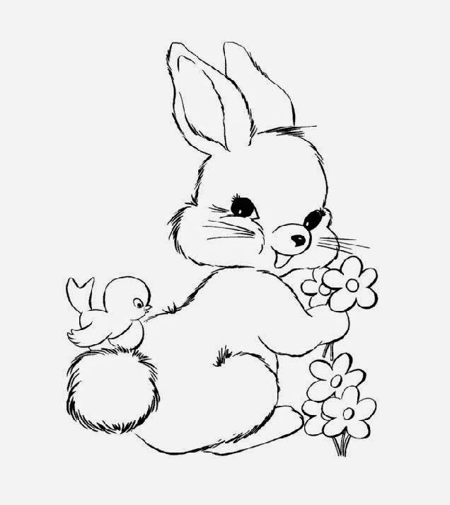 Bunny Coloring Sheets