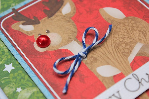 Tis The Season Rudolph Christmas Card by Juliana Michaels detail