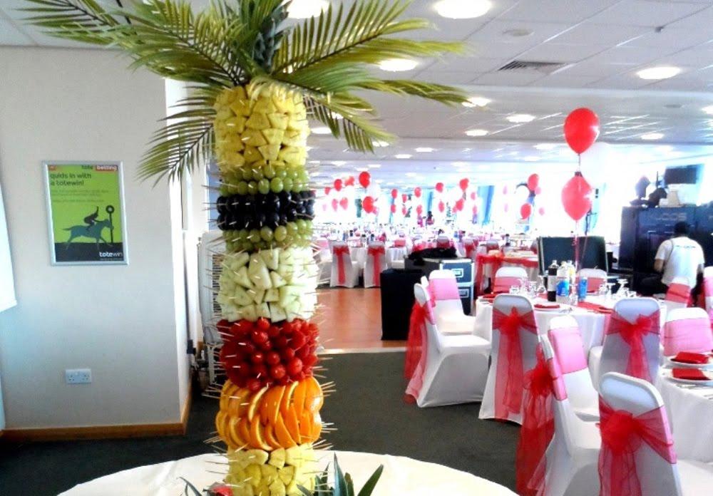 palmeras frutales para cascada decoracion con frutas