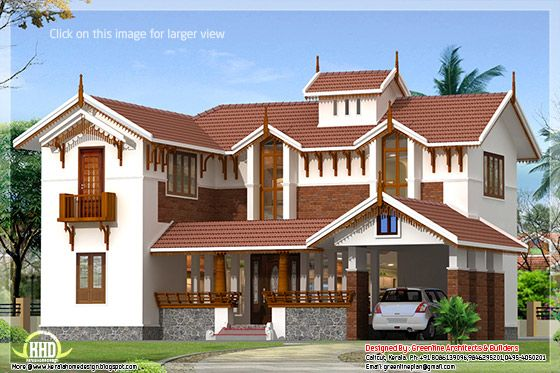 Kerala house design idea for Veedu elevation