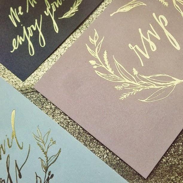 gold accent invitations
