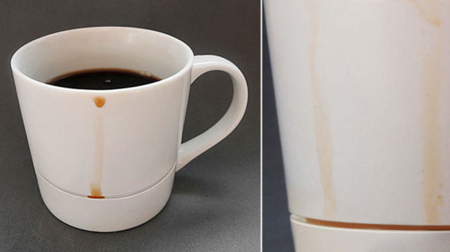 30 Insanely Clever Innovations That Need To Be Everywhere Already - Mug that catches any drips.