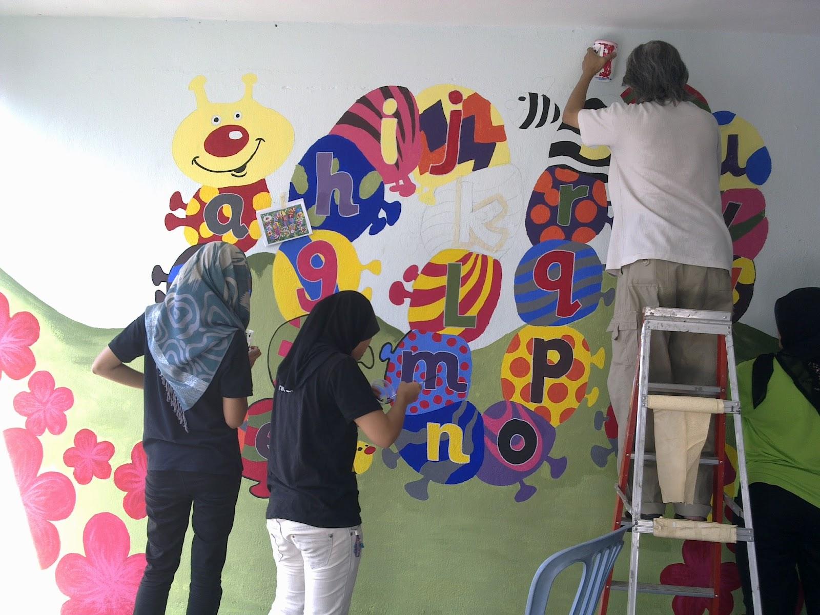 Orang kecil orang besar lawatan mb ke rumah ramah for Mural yang cantik