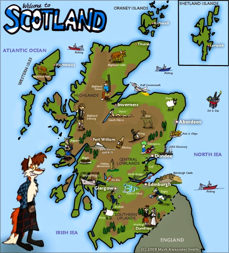 Scotland English Day: How to Draw a Cartoon Loch Ness Monster