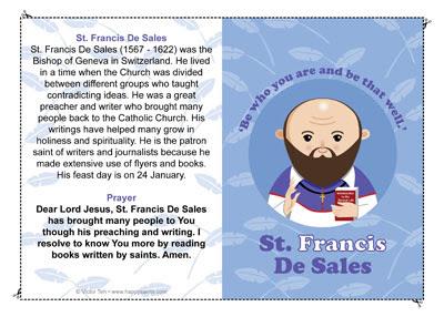 saint francisis desales quote for valentines day - Happy Saints January 2013