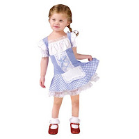 little girl in very short corset Dorothy dress