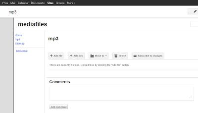 Default site for Blogger mp3 files
