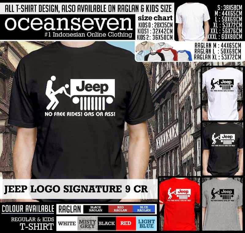 Kaos Distro Jeep Logo Signature CR Jual Kaos OceanSeven Toko - Jeep logo t shirt