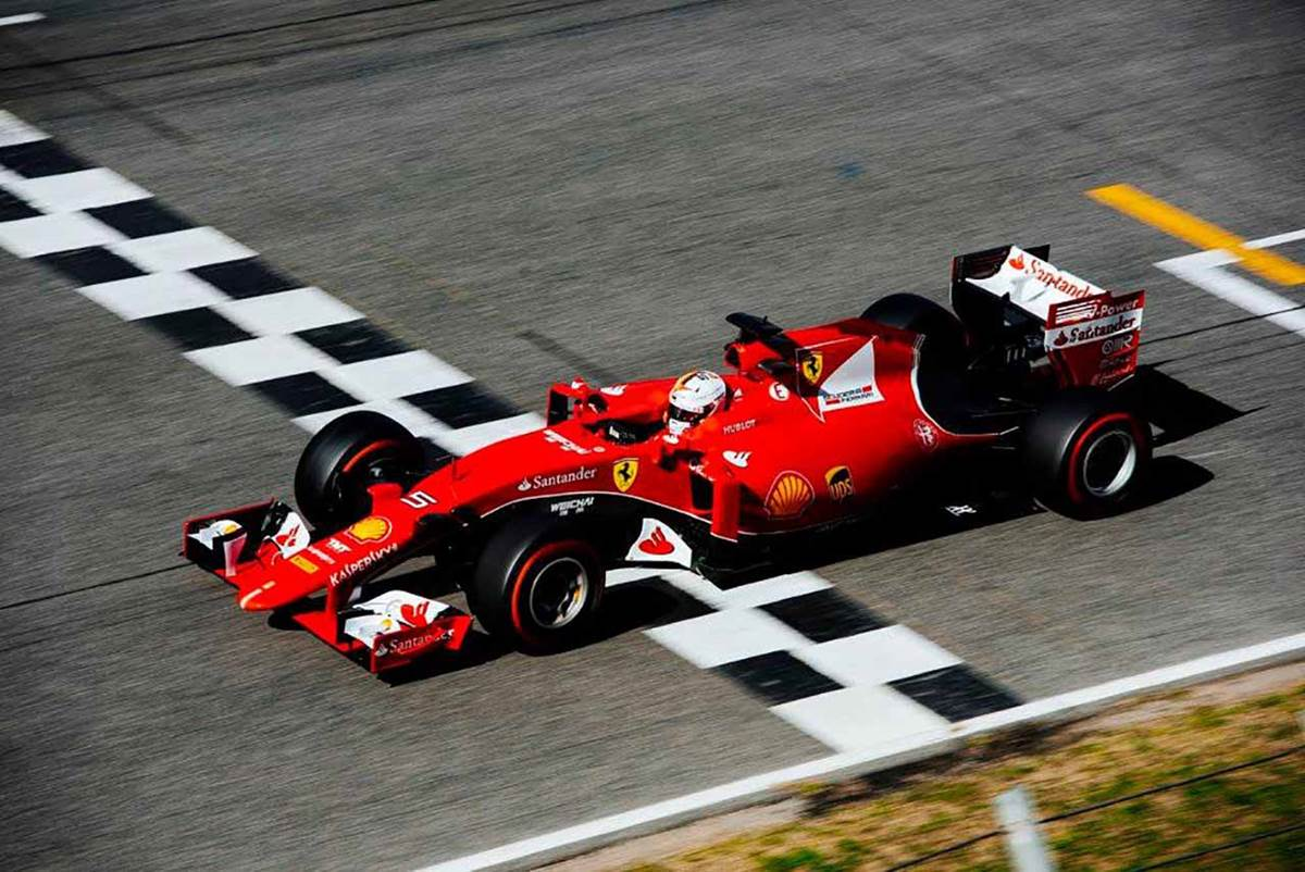 Sebastian Vettel, da Ferrari