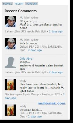 Widget komentar Disqus untuk blogger
