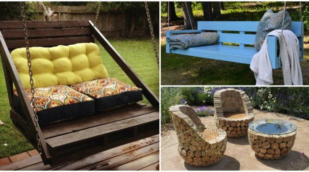 23 insanely awesome diy backyard furniture ideas idees for Cool outdoor furniture ideas
