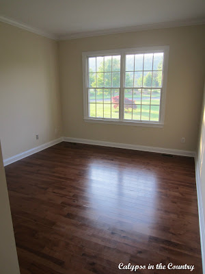 Hardwood floors in empty room