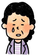 おばさんの表情のイラスト(泣き)