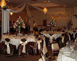 Wedding Saloons decoration in Brown