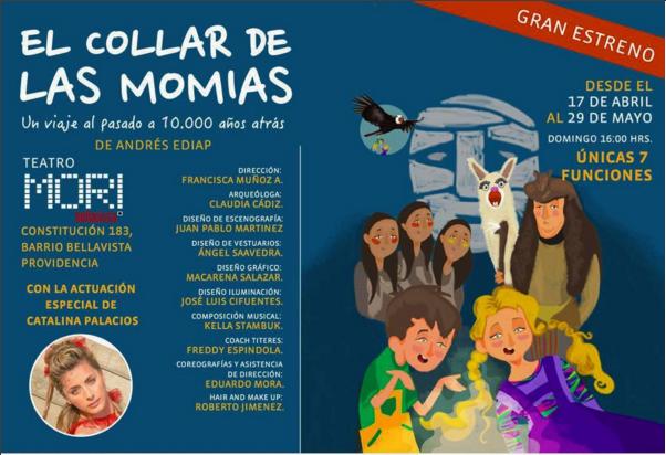"""[Teatro] Conoce a Lila en """"El collar de las Momias"""""""