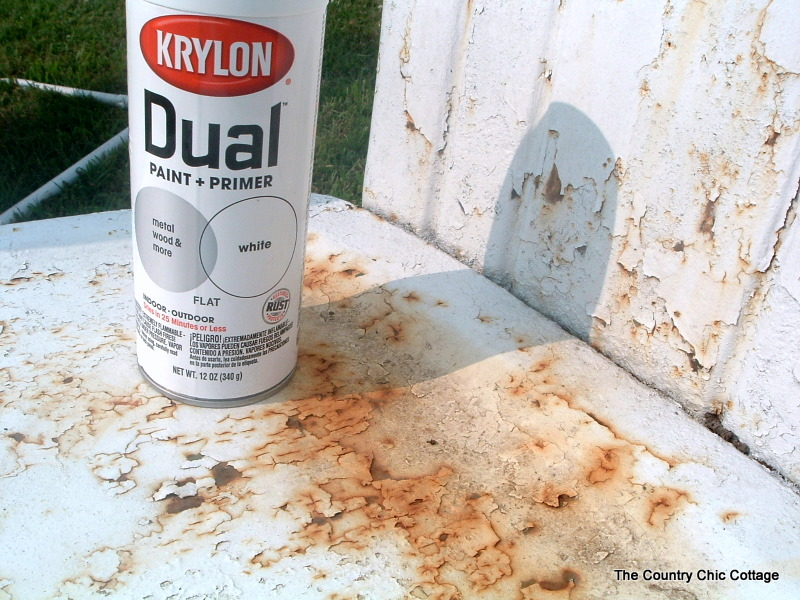 decorating with krylon dual spray paint the country chic cottage. Black Bedroom Furniture Sets. Home Design Ideas
