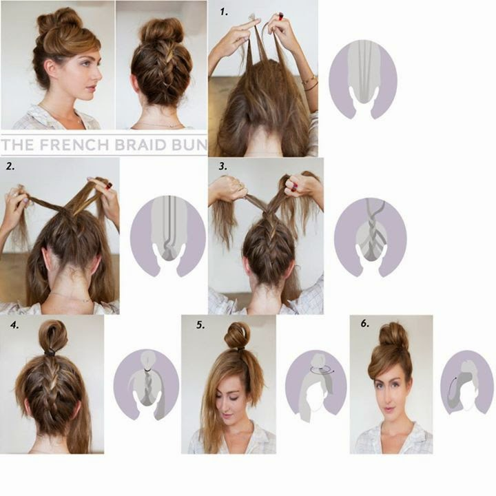 The French Braid Bun Style Tutorial..