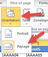 Orientation de page