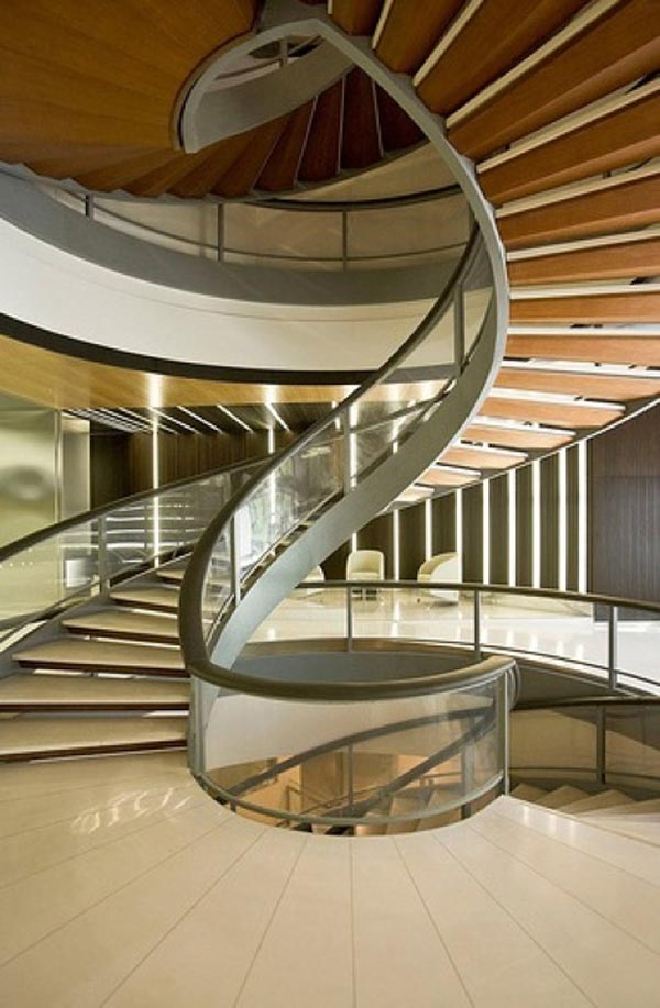 Creative staircase designs violet fashion art - Modern interior design with spiral stairs contemporary spiral staircase design ...