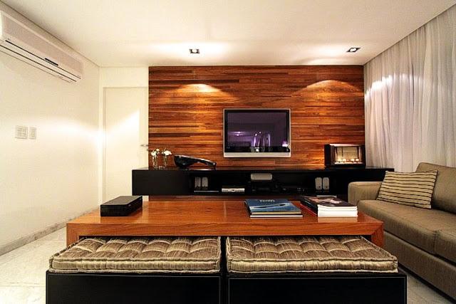decoracao interiores em pladur: em tons neutros! É uma parede marcante mas se for bem conseguida fica