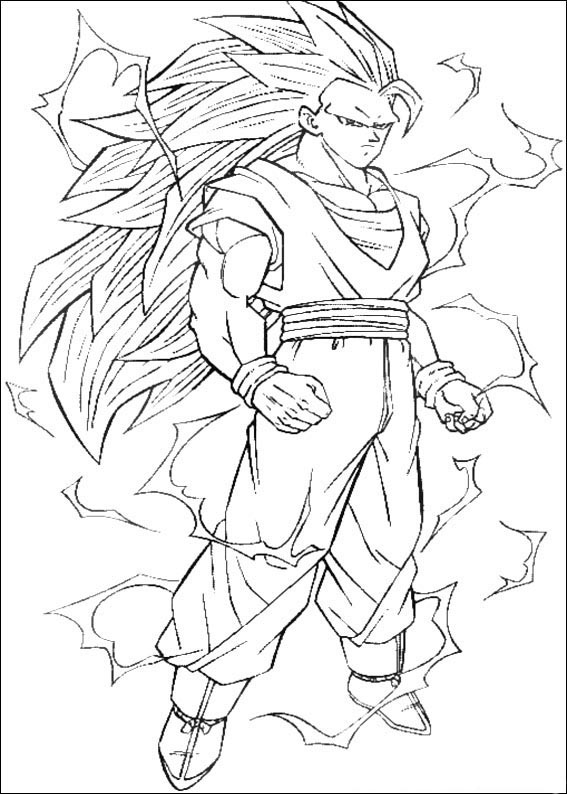 Desenhos Para Colorir Dragon ball z goku