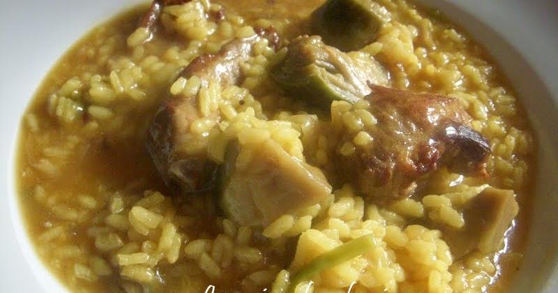 La cocina de valenciana arroz meloso de costillas - Arroz caldoso con costillas y alcachofas ...