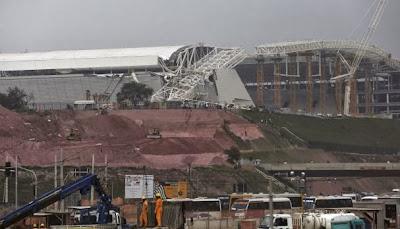 Queda da grua na Arena Corinthians