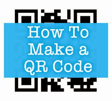 a q r code with the words how to maje a q r code