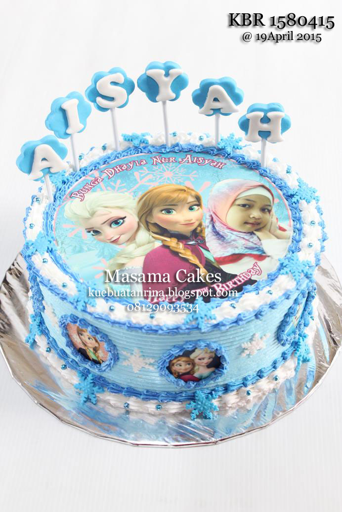Frozen Birthday Cake With Edible For Aisya