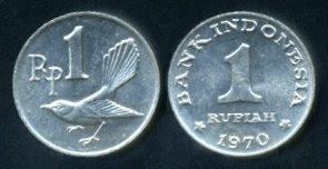koin Rp1 tahun 1970