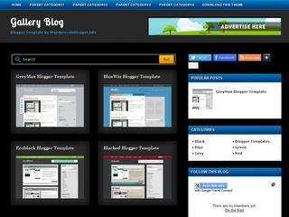 Gallery Blog Blogger Template