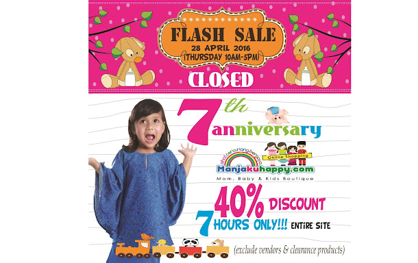 DISKAUN 40% MANJAKUHAPPY FLASH SALE!! START TODAY ⚡