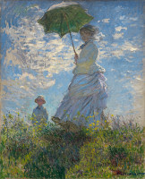 Woman with a Parasol by Claude Monet art