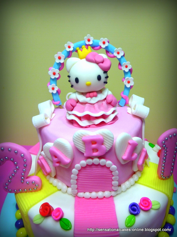 The Sensational Cakes Special Hello Kitty 21st Birthday Cake